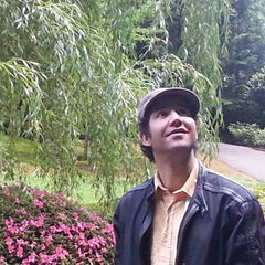 Mejid Beraouz in the Portland Japanese Garden