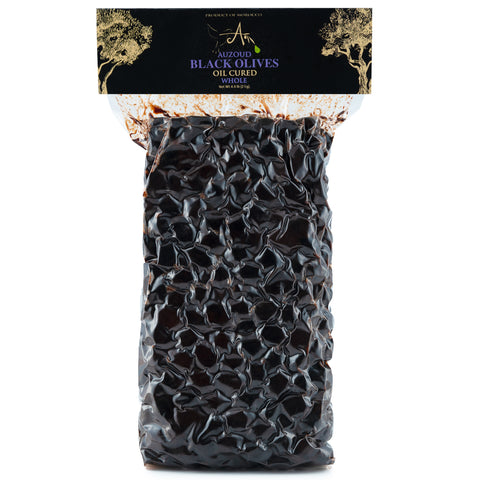 Auzoud All-Natural Black Olives, Whole, 2kg