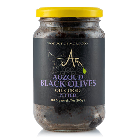 Auzoud All-Natural Black Olives, Pitted, 230g