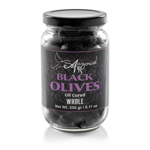 Auzoud All-Natural Black Olives, Whole, 230g