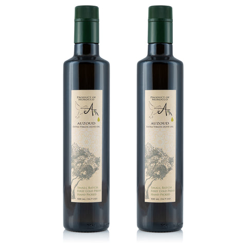 Auzoud All-Natural Extra Virgin Olive Oil, 500ml (Pack of 2)