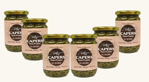 Auzoud All-Natural Non-Pareil Capers, 4.37 oz (PACK OF 6)