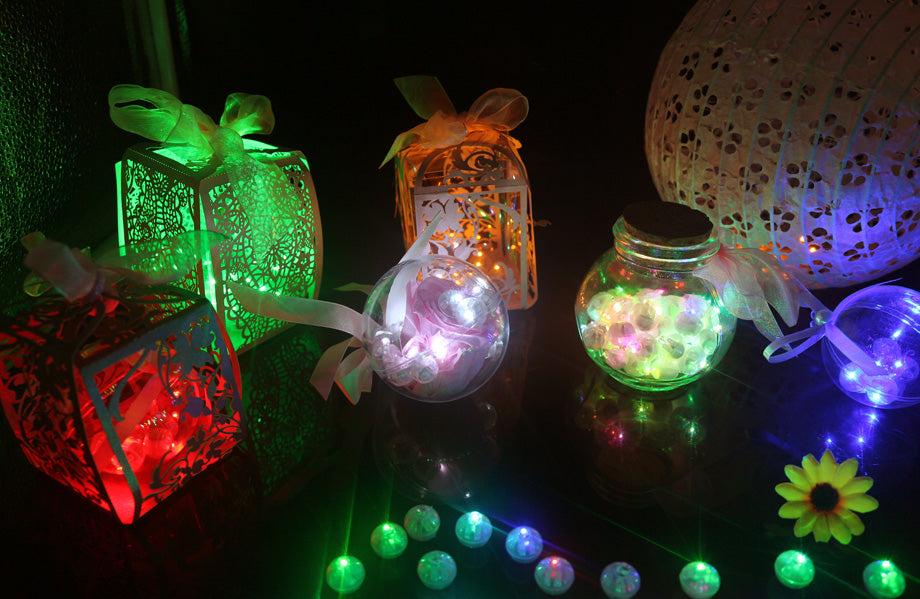 Mini Balloon LED Lights, 20 pieces