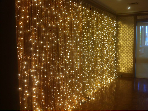 Giant Curtain Hanging Fairy Lights 5 Colours 3 Sizes