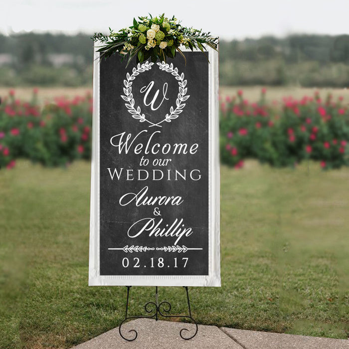 Personalised Wedding Welcome Sign STICKER DECAL