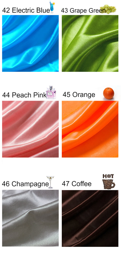 Pearlescent Satin Fabric - Electric Blue, Grape Green, Orange, Peach Pink, Champagne, Coffee