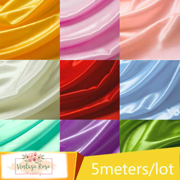 5 metres of Pearlescent Satin Fabric Colour Options