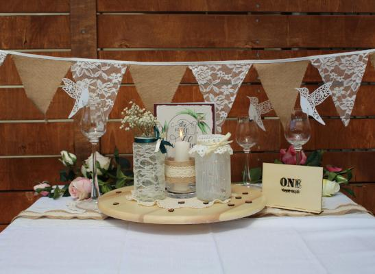 Burlap & Lace Table Decor Bundle Deal