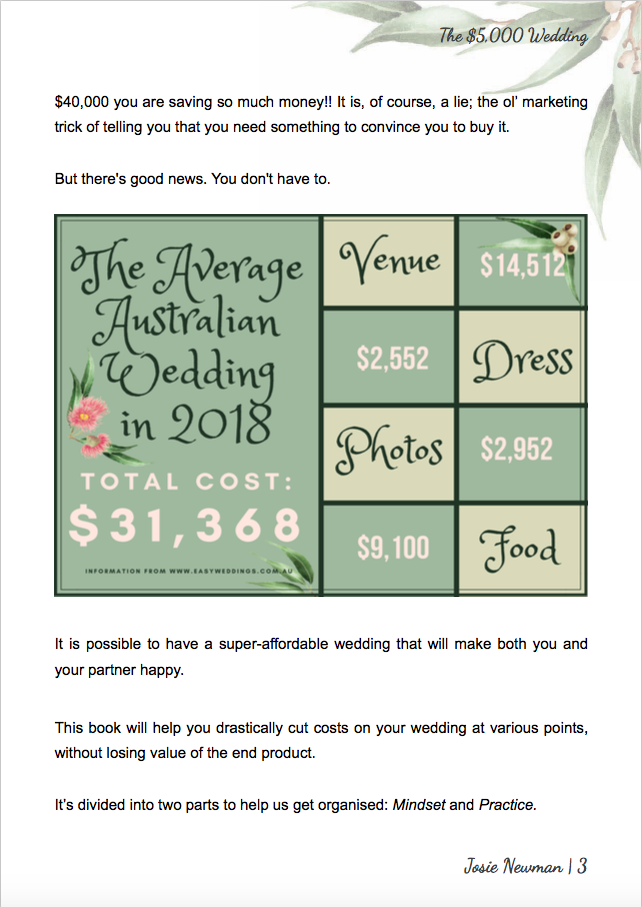 'The $5,000 Wedding' Book