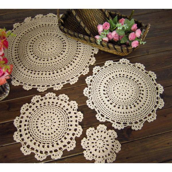 Crochet Cotton Doilies, 10 pieces, 5 sizes