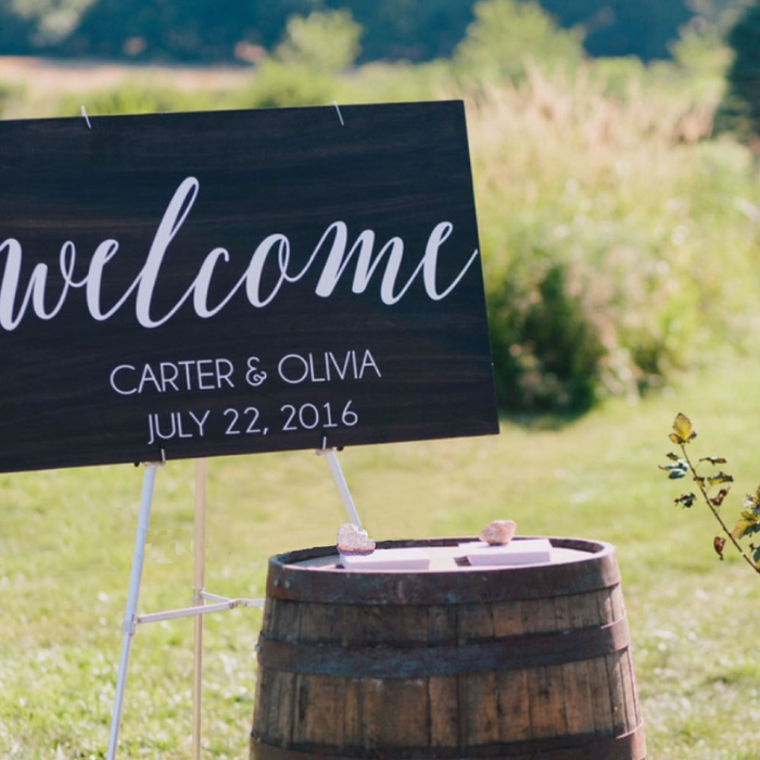 Rustic Customised Welcome Sign Decal Sticker