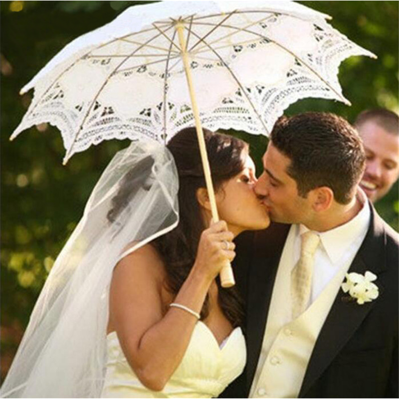 Vintage Lace Cotton Parasol Umbrella