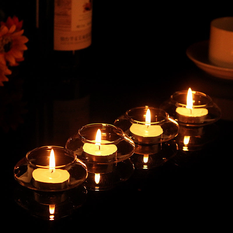 Floating Glass Candle Holder x 5