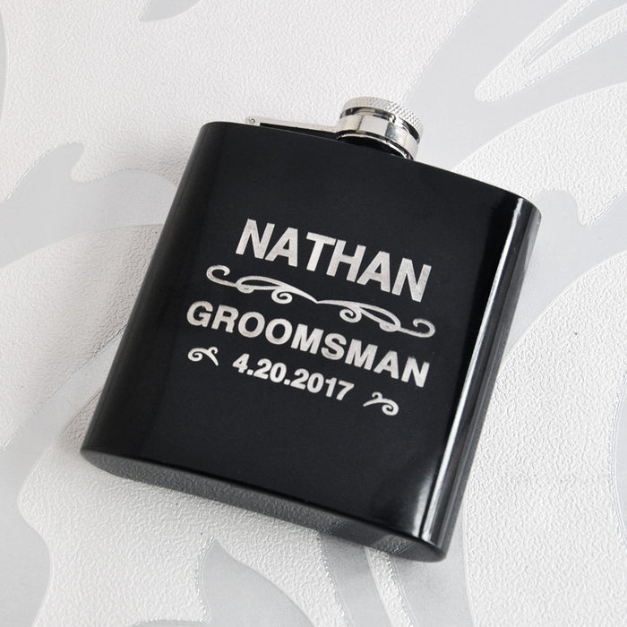 Groomsman Gift Hip Flask, Custom Engraving