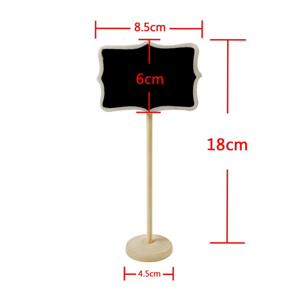 Mini Wooden Chalkboard Signs on Stands, 5 pieces
