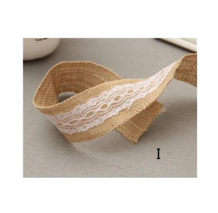 Burlap and Fine Lace Ribbon - Design I
