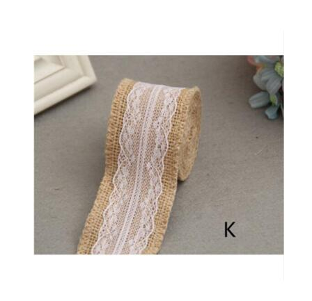 Burlap and Fine Lace Ribbon - Design E