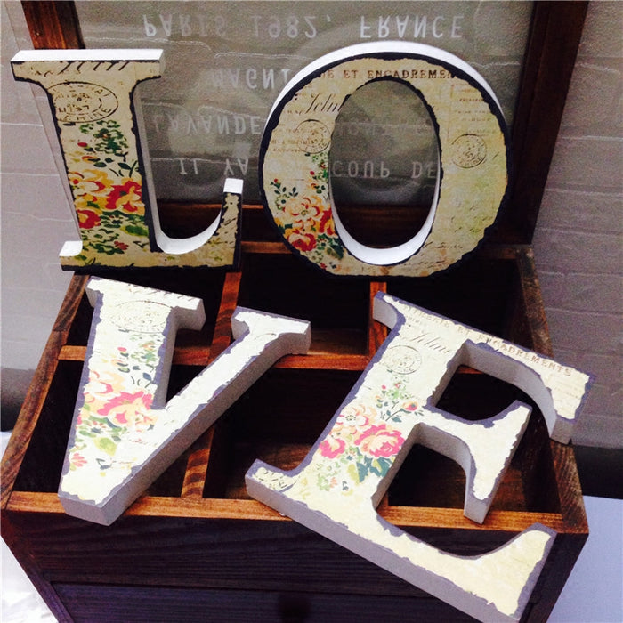 Vintage LOVE Letters Display