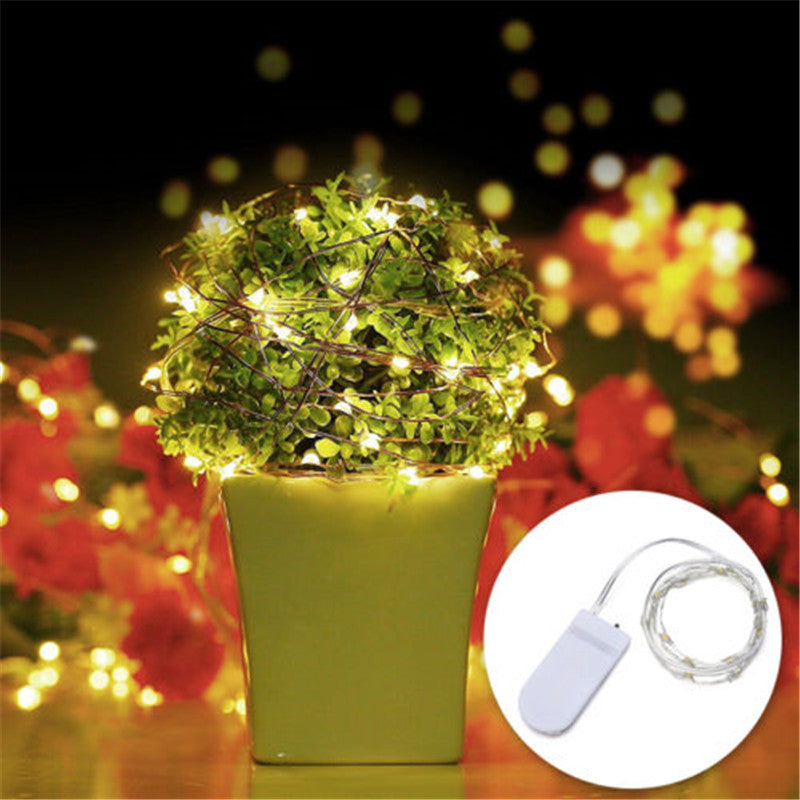 Copper Fairy Twinkle Lights 2M 20 LEDs (With Bonus Batteries 5+ pieces)