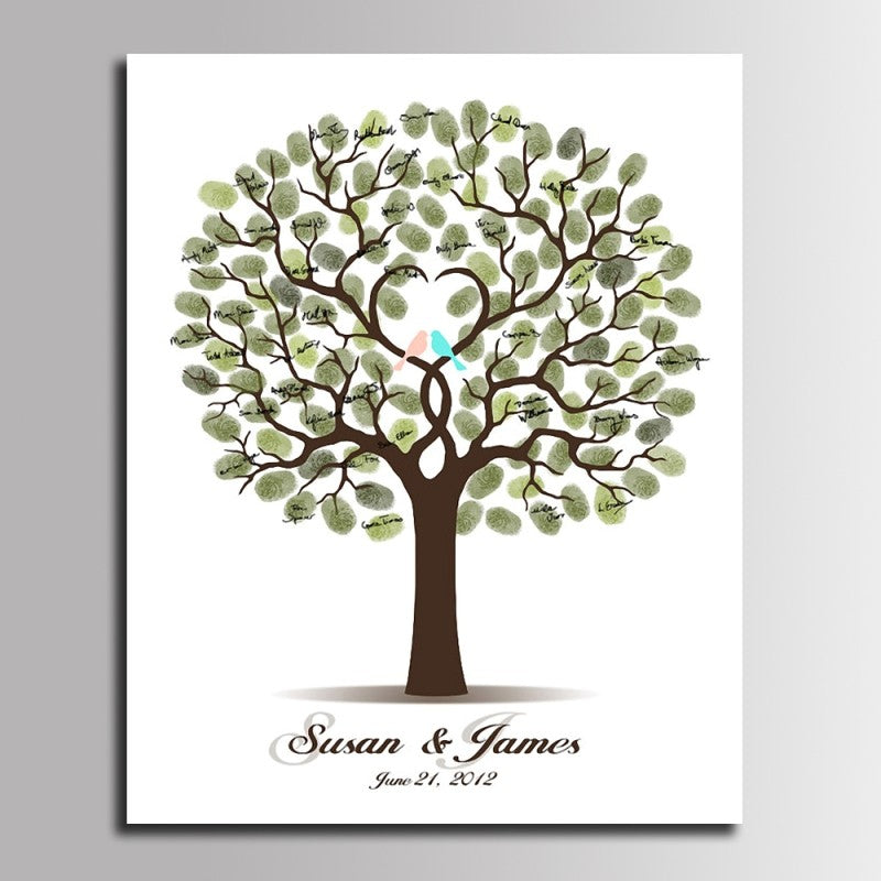 Fingerprint Signature Guests Book - MANY styles