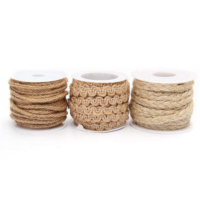 Hessian Jute Edging Ribbon, 5 metres