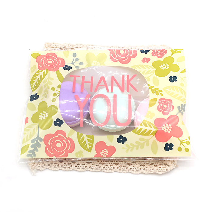 Thank you Floral Plastic Bags for Bonbonnierers or Candy Bar x 50