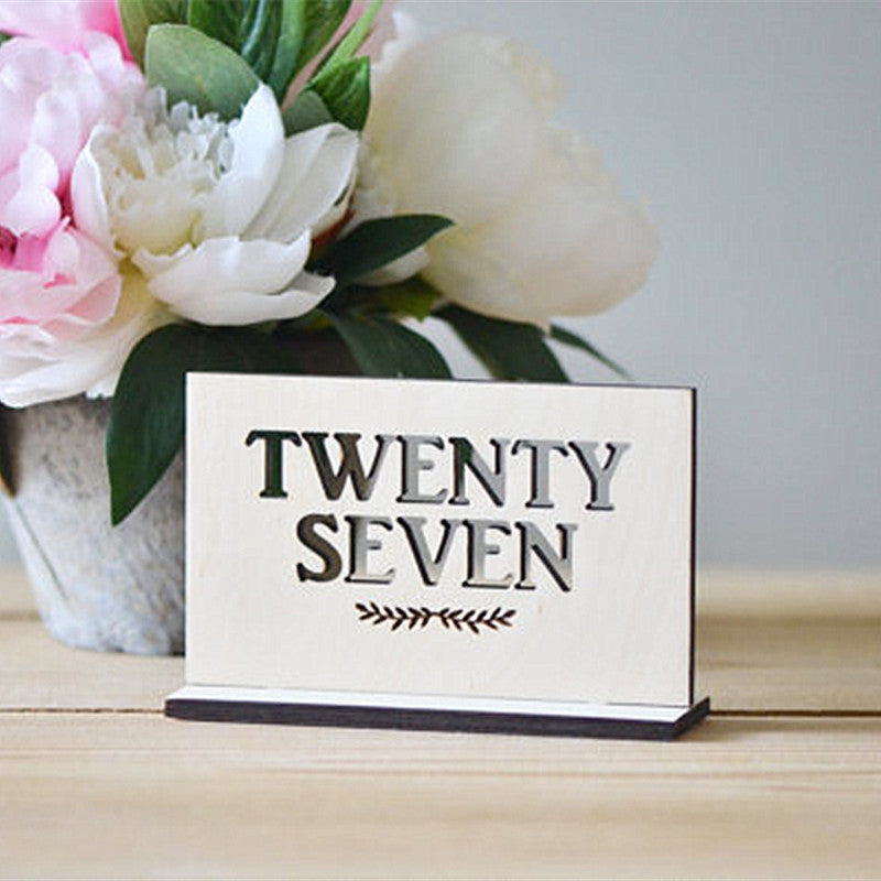 Wooden Standing Table Numbers