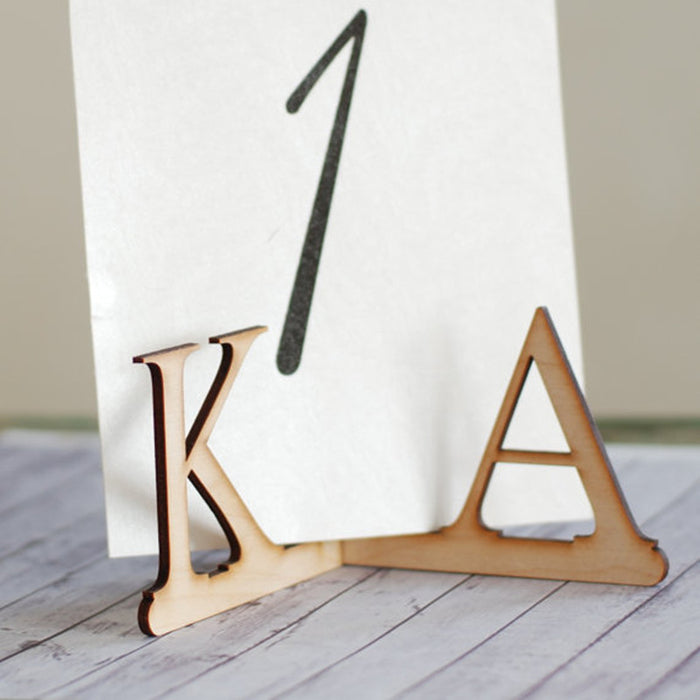 Personalised Wooden Initial Display Stands, 10 sets