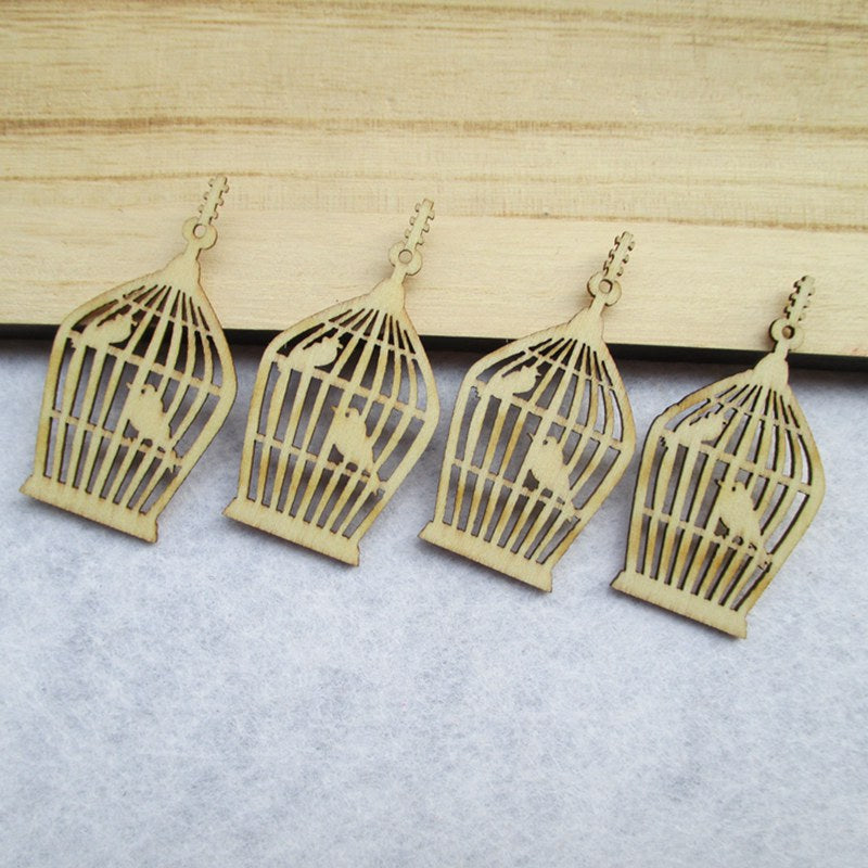 Wooden Birdcage Decoration, 100 pieces