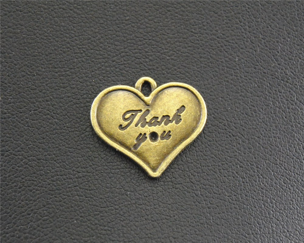 Bronze Heart Thank You Tag