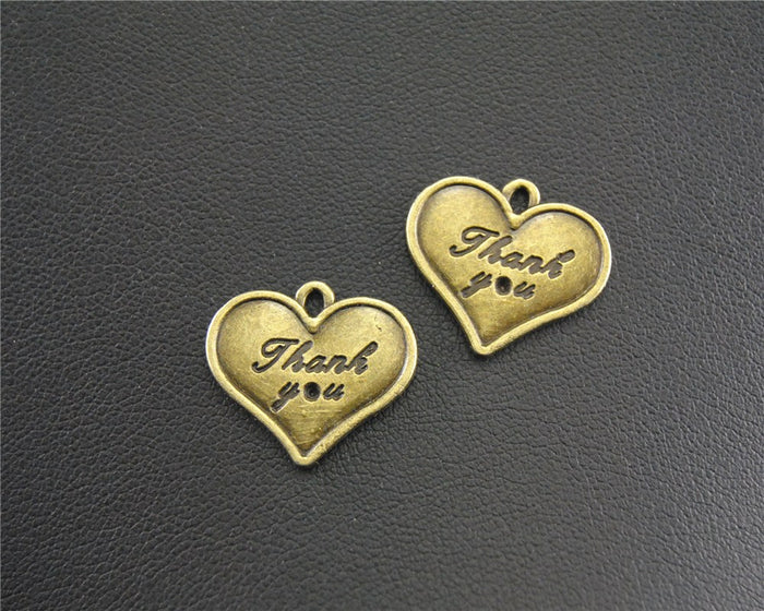 Bronze Heart Thank You Tag- 30 pack
