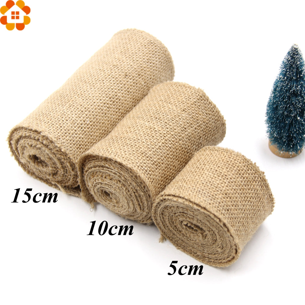 Burlap Hessian Roll - 3 sizes  (5, 10, and 15cm width)