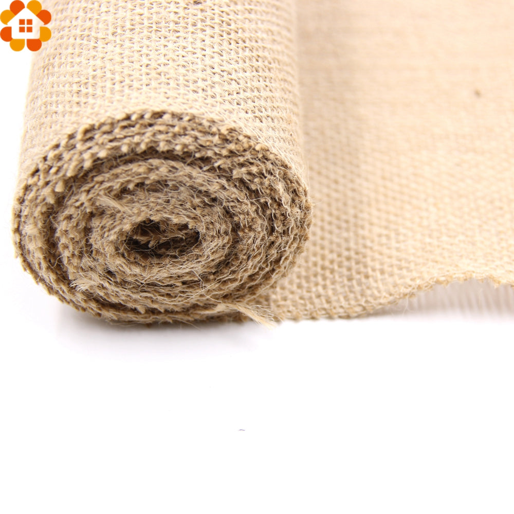 Burlap Hessian Roll Close up Detail