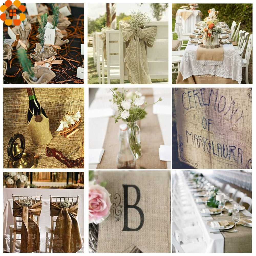 Burlap Hessian Roll - Sample decorations