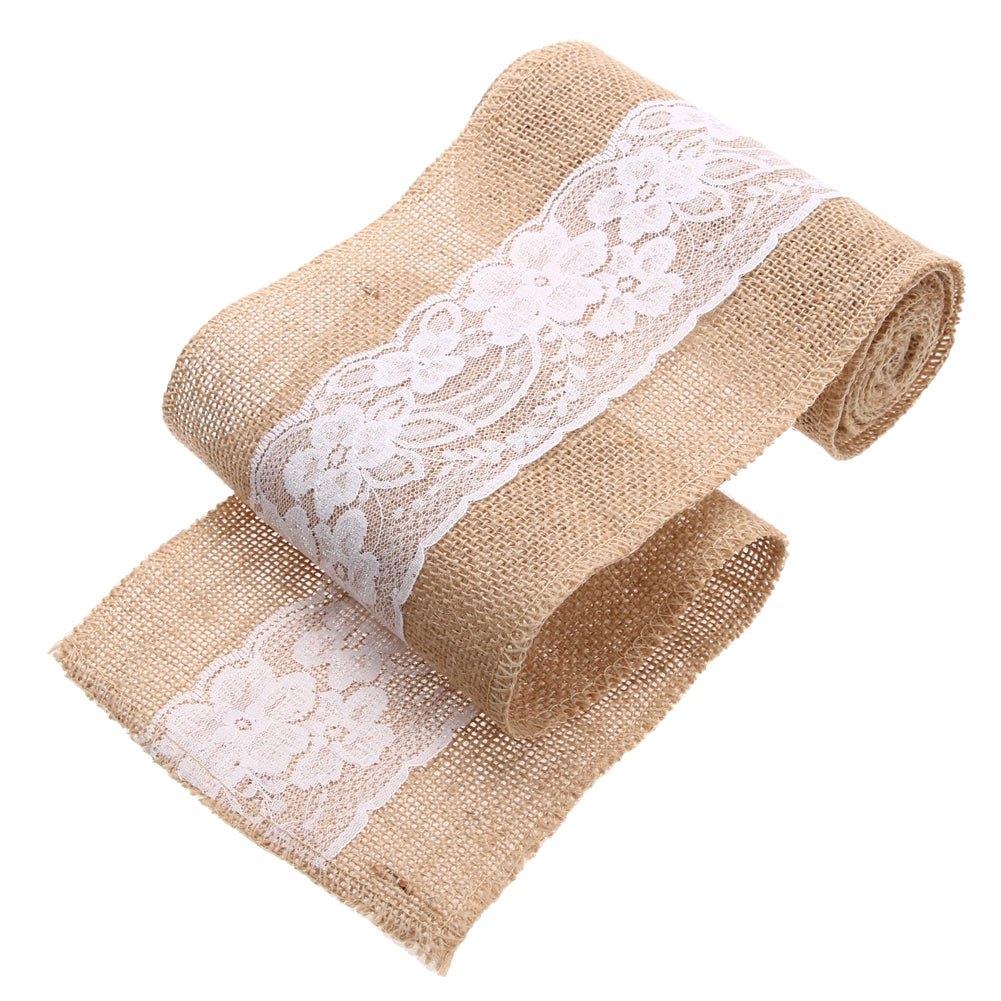 Burlap and Fine Lace roll