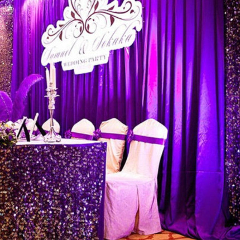 5 metres of Pearlescent Satin Fabric as Backdrop
