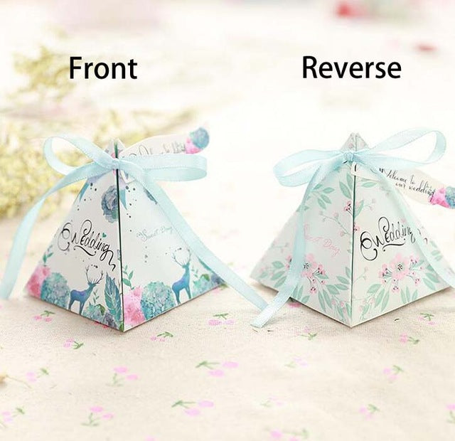 Pyramid Favour Box, 50 pack, many designs