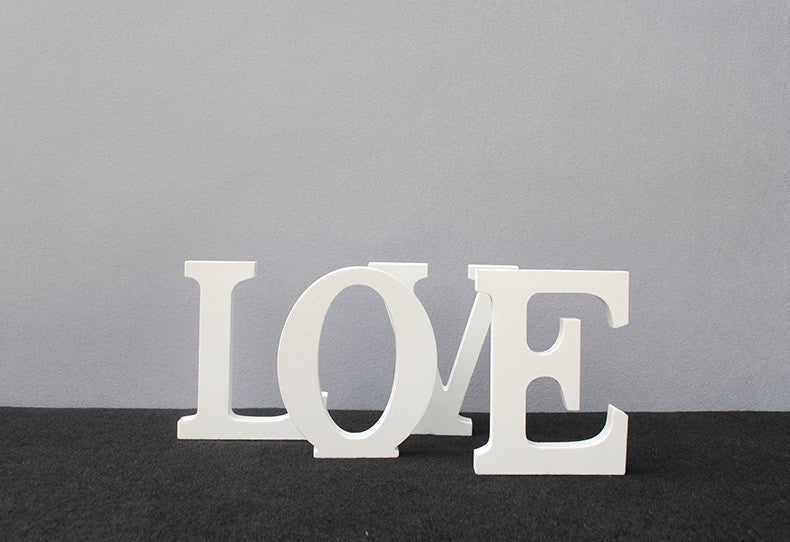 Alphabet and Wooden LOVE letters 15cm