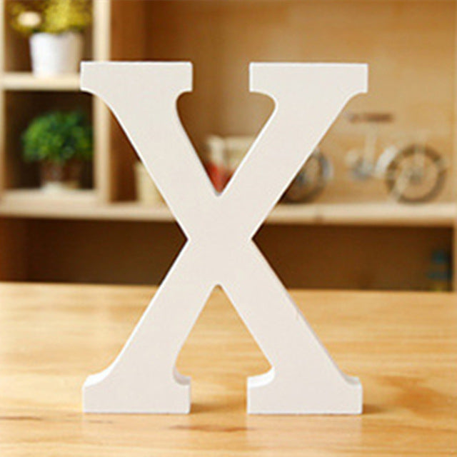 Wooden Letter - X