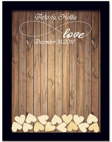 Personalised Drop-in Rustic Wooden Guest Book