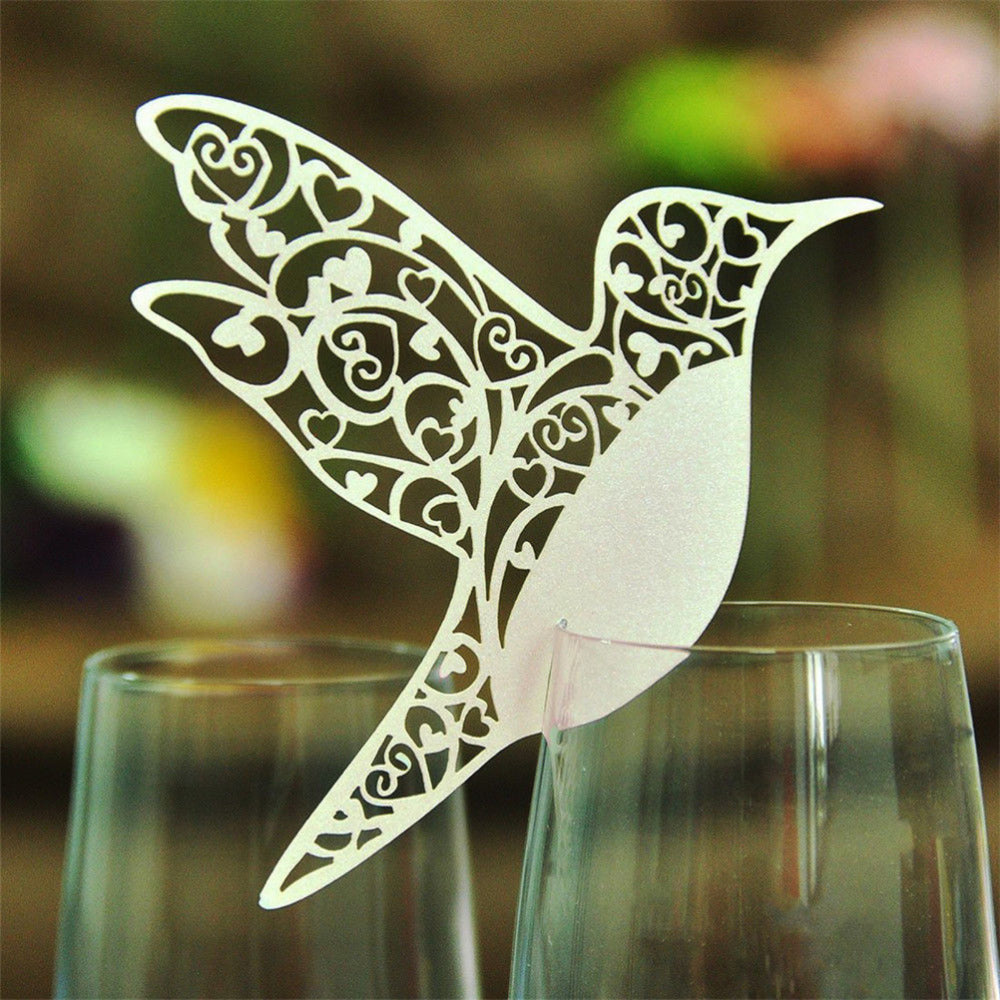 Bird Name Card for glass