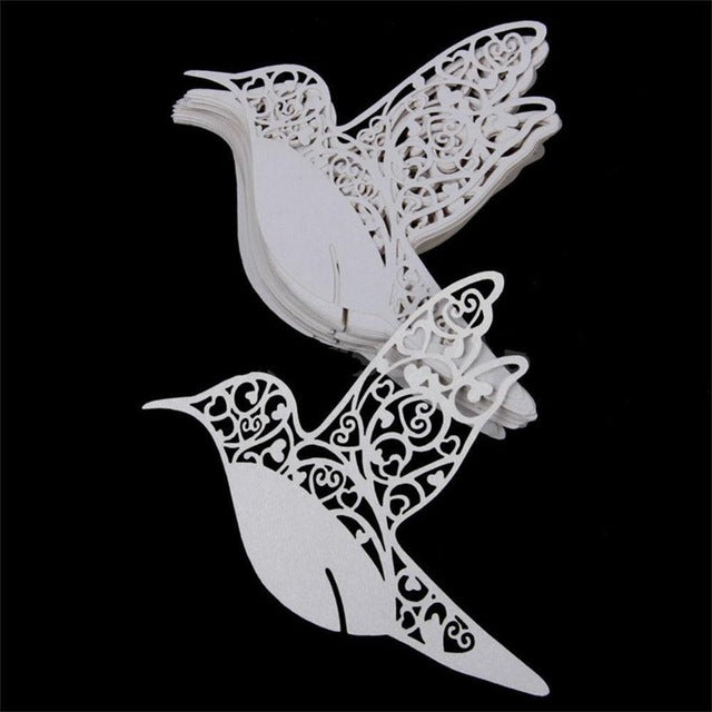 Bird Name Card for glass, 50 peices