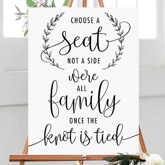 Choose a Seat Decal Sticker for Ceremony
