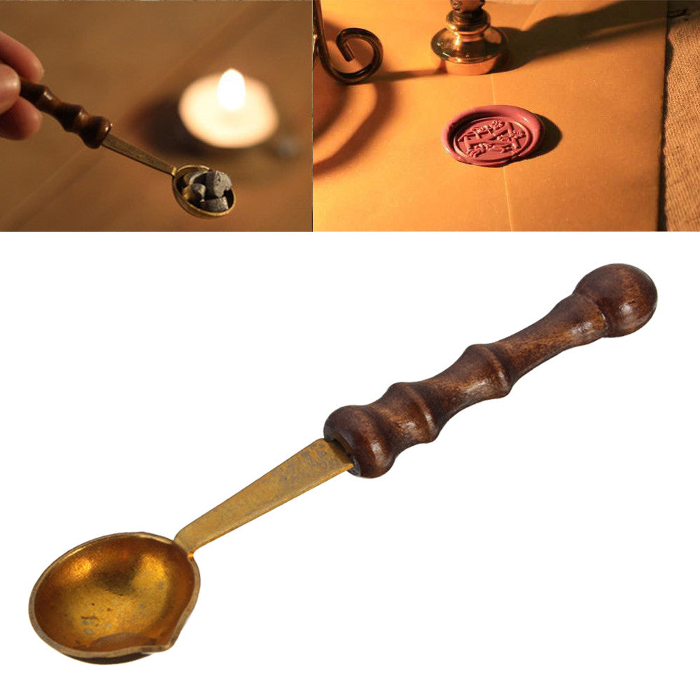 Wax Seal Stamp Spouted Pouring Spoon