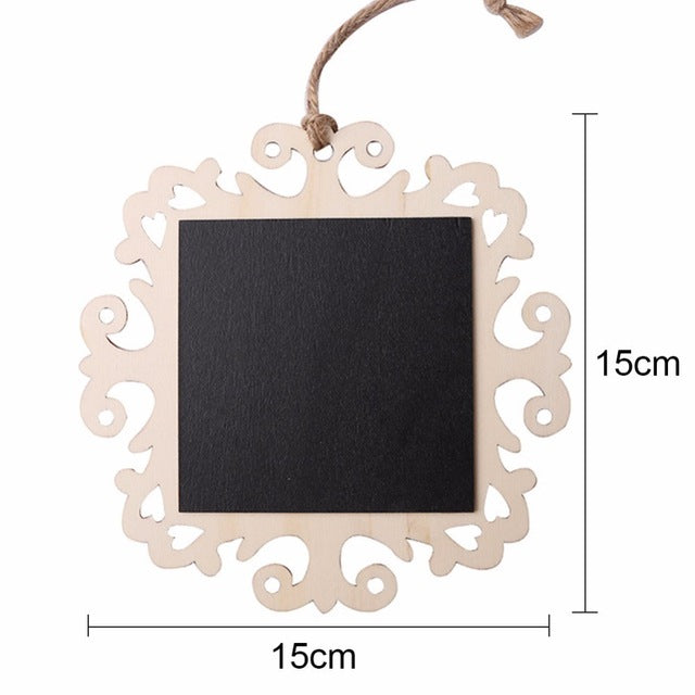 FREE Wooden Chalkboard Sign with Lacey Frame