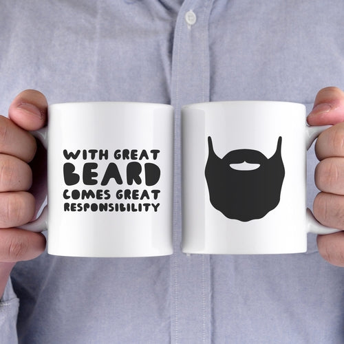With Great Beard Comes Great Responsibility Funny