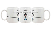 Funny Coffee Mug for Dad - I Love You Thiiiiiiis - Smart gadget & Accessories,Baby & toy
