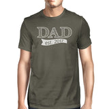 Dad Est 2017 Mens Dark Grey Graphic Tee Funny Gift - Smart gadget & Accessories,Baby & toy