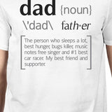 Dad Noun Mens White Cotton Tee Cute Fathers Day - Smart gadget & Accessories,Baby & toy