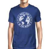 World Best Dad Mens Blue Cotton Tee Cute Fathers